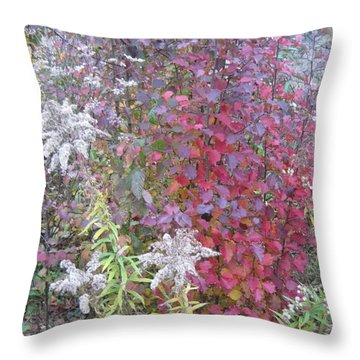 God's Bouquest Throw Pillow by Gretchen Allen