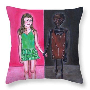 Gods Children Throw Pillow by Sandra Marie Adams
