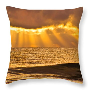 God's Eyelashes Throw Pillow by Debra and Dave Vanderlaan