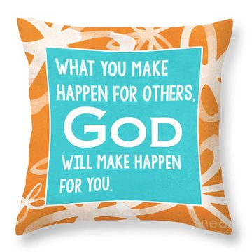 God's Gift Throw Pillow by Linda Woods