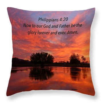 God's Glory Throw Pillow