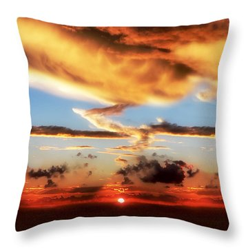 God's Heaven Throw Pillow