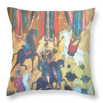 God's Horse Masters-the Deposition Throw Pillow