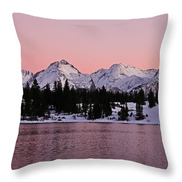 God's Light Painting At Molas Lake Throw Pillow