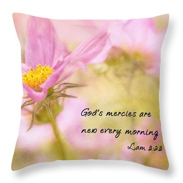 God's Mercies Throw Pillow