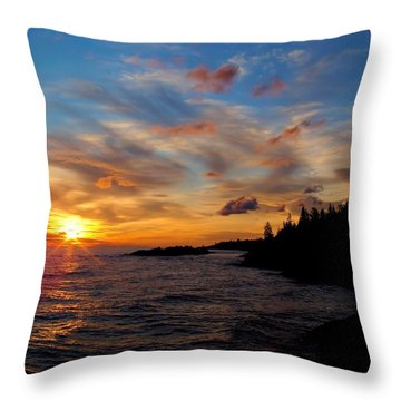 Throw Pillow featuring the photograph God's Morning Painting by Bonfire Photography