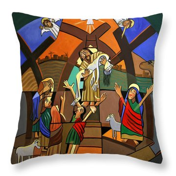 Gods Only Son Throw Pillow by Anthony Falbo