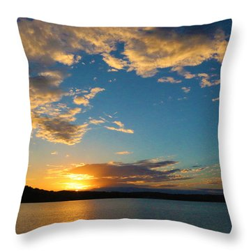 Throw Pillow featuring the photograph God's Paint Brush by Lorna Rogers Photography