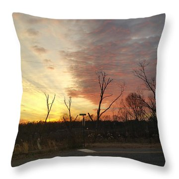 God's Painted Sky Throw Pillow by Donna Brown