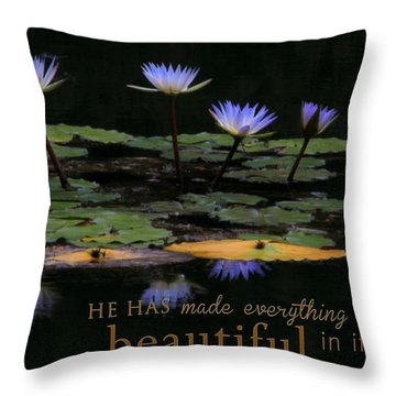 Peace Of Mind With Message Throw Pillow
