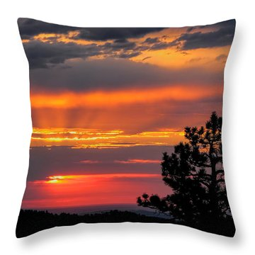 God's Spotlight Over Keystone Throw Pillow