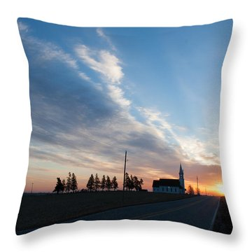Throw Pillow featuring the photograph Gods Sunrise Over His Church by Dawn Romine