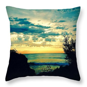 Morning Glory Throw Pillow by Caz' Seize the momento A