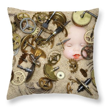 Gof Of Time Throw Pillow by Michal Boubin