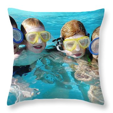 Throw Pillow featuring the photograph Goggle Eyed Quartet by David Nicholls
