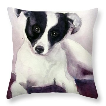 Goggles The Stray Dog Throw Pillow