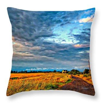 Goin' Home Oil Throw Pillow by Steve Harrington