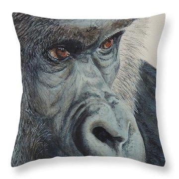 Going Ape...sold  Throw Pillow