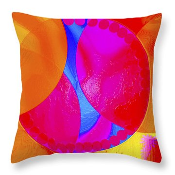 Throw Pillow featuring the painting Going Around In Circles by Sherri  Of Palm Springs