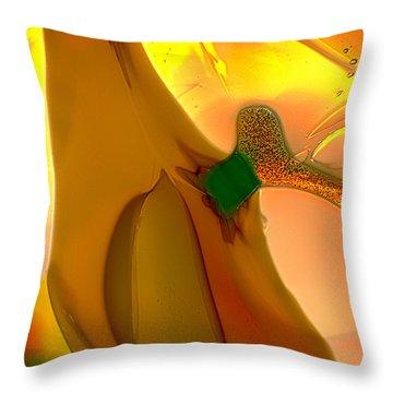 Going Bananas Throw Pillow by Omaste Witkowski
