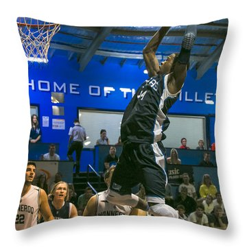 Throw Pillow featuring the photograph Going For The Slam by Serene Maisey