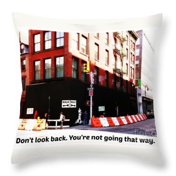 Going Forward Throw Pillow