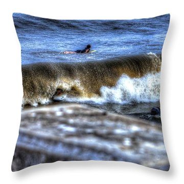 Throw Pillow featuring the photograph Going Going Gone by Tyson Kinnison
