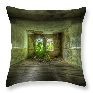 Going Gree Throw Pillow