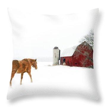 Going Home Throw Pillow