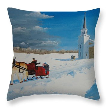 Going Home From Church Throw Pillow by Norm Starks