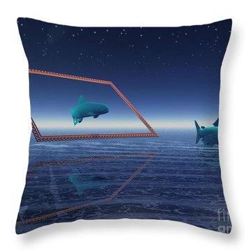 Throw Pillow featuring the digital art Going No Where  by Jacqueline Lloyd