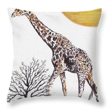 Throw Pillow featuring the painting Going Solo by Stephanie Grant