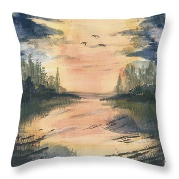 Going South  Throw Pillow