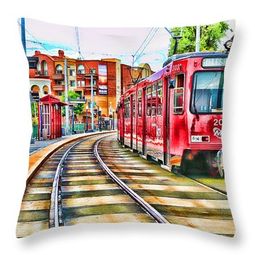 Going To Gillespie Field By Diana Sainz Throw Pillow