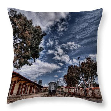 Throw Pillow featuring the photograph Going To Jerusalem by Ron Shoshani