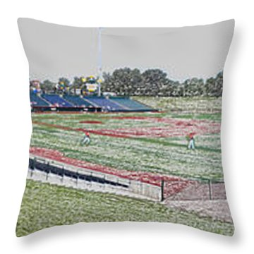 Going To The Baseball Game Digital Art Throw Pillow by Thomas Woolworth