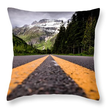 Going To The Sun Throw Pillow