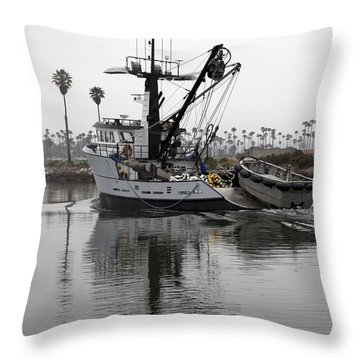 Going To Work Throw Pillow by Amanda Barcon