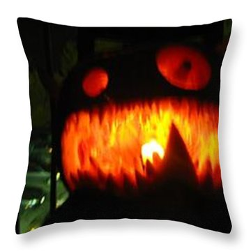 Going Up Pumpkin Throw Pillow