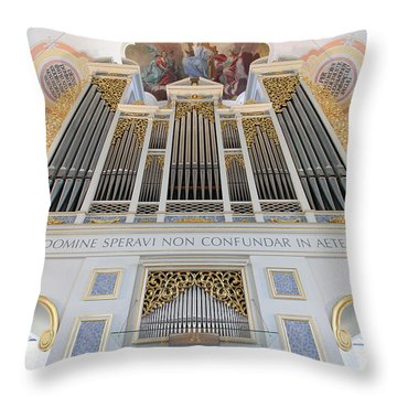 Gold And Blue Pipes Throw Pillow