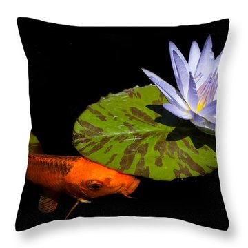 Gold And Blue Throw Pillow by Priya Ghose