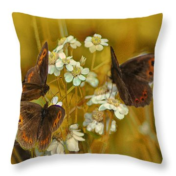 Gold And Brown Throw Pillow