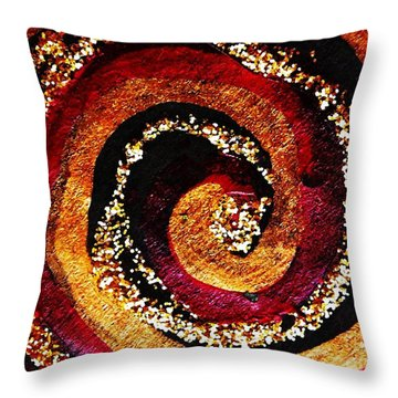 Gold And Glitter 55 Throw Pillow by Sarah Loft