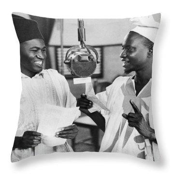 Gold Coast Africa Broadcasting Throw Pillow