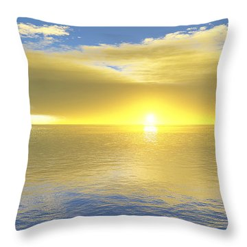Gold Coast Throw Pillow