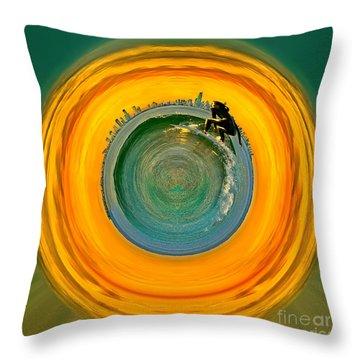 Gold Coast Surfer Circagraph Throw Pillow