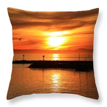 Gold Corona  Throw Pillow