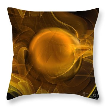Gold Throw Pillow by Elizabeth McTaggart