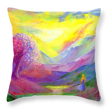 Gold Horizons Throw Pillow