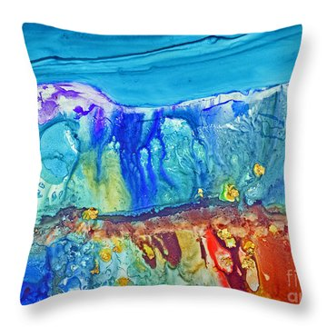 Gold In The Hills Throw Pillow